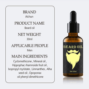 Beard Growth Oil 100% Natural Organic Beard Essential Oil for Men Beard Growth Hair Growth Essence Oil Moustache Grow Beard