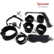 Load image into Gallery viewer, Sex Handcuffs Nipple Clamps Whip Mouth Gag Sex Mask Anal Plug Vibrator BDSM Bondage Set Erotic Sex Toys for Woman Men Adult Game
