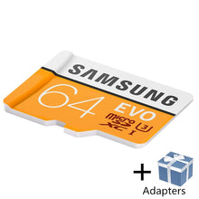 Load image into Gallery viewer, SAMSUNG Microsd Card 256G 128GB 64GB 100Mb/s Class10 U3 32GB 95Mb/s U1 SDXC Grade EVO Micro SD Card Memory Card TF Flash Card