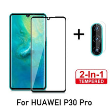 Load image into Gallery viewer, 2 in 1 protective glass for huawei p30 lite camera back cover for huwei p30 pro p 30 light 30lite 30pro tremp glasses lens case