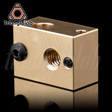 Load image into Gallery viewer, copper brass heater block for E3D copper hotend for 3D printer high temperature  for Hardened Steel V6 Nozzles/titan extruder