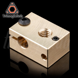 copper brass heater block for E3D copper hotend for 3D printer high temperature  for Hardened Steel V6 Nozzles/titan extruder