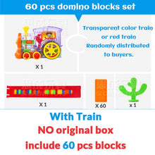 Load image into Gallery viewer, Automatic Laying Domino Brick Train Car Set sound light kids Colorful Plastic Dominoes Blocks Game Toys Set Gift for Girl boys