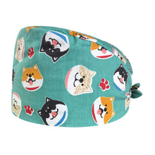 Load image into Gallery viewer, Cotton operating room hat printing medical surgical hat sweat-absorbent pet hospital doctor work hats dental clinic nursing caps
