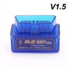 Load image into Gallery viewer, New OBD V2.1 V1.5 mini ELM327 OBD2 Bluetooth Auto Scanner OBDII 2 Car ELM 327 Tester Diagnostic Tool for Android Windows Symbian
