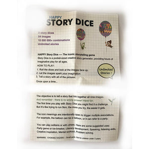 Story Dice Board Game Puzzle Telling Story Family/Party/Friends Parents with Children Funny English Game send Bag/English Rules