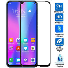 Load image into Gallery viewer, 9D Tempered Glass on the For Huawei Honor 9 10 20 Lite 9i 10i 20i 8X 8A 8C 8S Screen Protector Safety Protective Glass Film Case