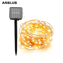 Load image into Gallery viewer, ANBLUB Outdoor 10M 20M Solar Lamp LED String Fairy Lights Flash 100/200leds Waterproof For Christmas Garden Wedding Decoration