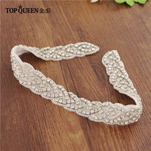 Load image into Gallery viewer, TOPQUEEN S216 Women's Rhinestones Handmade Belt Wedding  Belt Accessories Marriage Bridal Sashes wedding bridal sashs Any Size