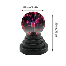 Load image into Gallery viewer, 2019 USB Plasma Ball Electrostatic Sphere Light Magic Crystal Lamp Ball Desktop Lightning Christmas Party Touch Sensitive Lights