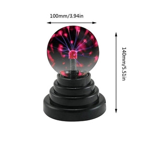 2019 USB Plasma Ball Electrostatic Sphere Light Magic Crystal Lamp Ball Desktop Lightning Christmas Party Touch Sensitive Lights