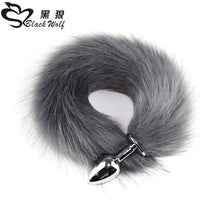 Load image into Gallery viewer, Metal Plug Long Anal Plug Sex Toy  Animal Role Play Cosplay Fox Tail Sex Products Shop  Sexy Butt Plug Adult Accessories