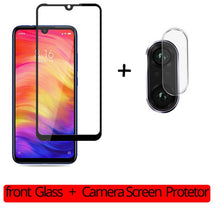 Load image into Gallery viewer, 2-in-1 Camera Glass Redmi Note 7 9D Tempered Glass Screen Protector Xiaomi Redmi Note 7 Glass Film redmi note 7 screen protector