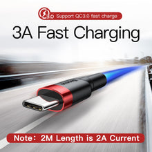 Load image into Gallery viewer, Baseus USB Type C Cable for Samsung S10 S9 Quick Charge 3.0 Cable USB C Fast Charging for Huawei P30 Xiaomi USB-C Charger Wire
