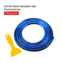 Load image into Gallery viewer, Car Styling 5M/pcs Universal Flexible Car Interior Decoration Moulding Trim Strips Car Central Control and Door Decoration Strip