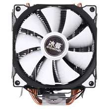 Load image into Gallery viewer, SNOWMAN 4PIN CPU cooler 6 heatpipe Double fans cooling 12cm fan LGA775 1151 115x 1366 support Intel AMD