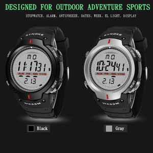 SYNOKE Watches Men 30M Waterproof Electronic LED Digital Watch Men Outdoor Mens Sports Wrist Watches Stopwatch Relojes Hombre