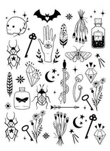 Load image into Gallery viewer, Waterproof Temporary Fake Tattoo Stickers Black Devil Doesn't Sleep English Letters Cool Design Body Art Make Up Tools