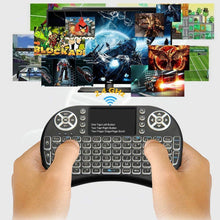 Load image into Gallery viewer, 2.4G I8 Mini Keyboard Wireless Keyboard Backlit Air Mouse English Russian Spanish French Remote Control for Android TV BOX