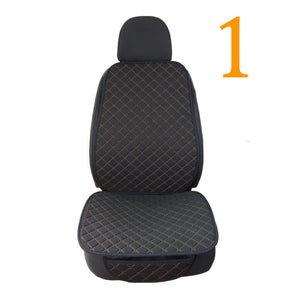 Large Size One Seat Flax Car Seat Cover Protector Front Seat Back Cushion Pad Mat Auto Front Automotive interior Truck Suv Van