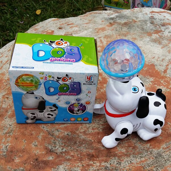 Hot Selling Electric Robot Dog Toys Can Bark Walking Animals Forward Toy Music 3D Light for Children Gifts