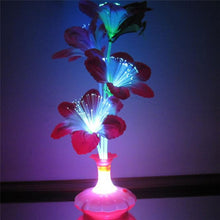 Load image into Gallery viewer, ping 1PC Decoration Stage Fiber Flower Vase Optical Fiber LED Lamp Valentine's Day Night Light Home Decor