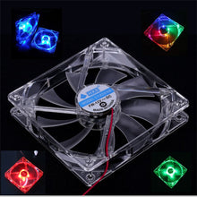 Load image into Gallery viewer, Cooling Fan PC Computer Fan Quad 4 LED Light 120mm PC Computer Case Cooling Fan Mod Quiet Molex Connector Easy Installed Fan 12V