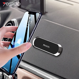 Yesido C55 mini Strip Shape Magnetic Car Phone Holder Stand For iPhone Samsung Xiaomi wall metal Magnet GPS Car Mount Dashboard