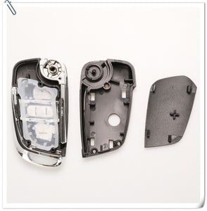 jingyuqin CE0523 Modified Flip Folding Key Shell For Peugeot 306 407 807 Partner Remote VA2/HU83 Blade Entry Fob Case 2/3 Button