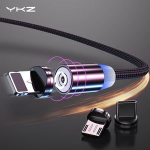 YKZ Magnetic USB Cable for Huawei Samsung Type C Type-C Charging USB C Magnet Cable Micro USB Mobile Phone Cord Wire for iPhone