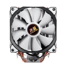 Load image into Gallery viewer, SNOWMAN 4PIN CPU cooler 6 heatpipe Single fan cooling 12cm fan LGA775 1151 115x 1366 support Intel AMD
