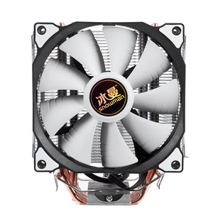 SNOWMAN 4PIN CPU cooler 6 heatpipe Single fan cooling 12cm fan LGA775 1151 115x 1366 support Intel AMD