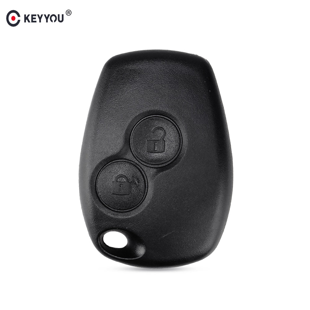 KEYYOU For Renault Megane Modus Espace Laguna Duster Logan DACIA Sandero Fluence Clio Kangoo 2 Button Remote Key Shell Case