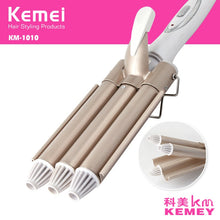 Load image into Gallery viewer, Professional Curling Iron Ceramic Triple Barrel Hair Styler Hair Waver Styling Tools 110-220V Hair Curler Electric Curling 41D