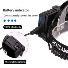 Load image into Gallery viewer, Powerful 8000LM XHP70.2 LED Headlamp USB Rechargeable Headlight Waterproof Zoomable Power Bank Fishing Light Using 18650 Battery