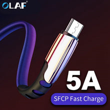 Load image into Gallery viewer, Micro USB Cable 5A Fast Charging USB Sync Data Mobile Phone Adapter Charger Cable For Samsung Xiaomi Sony HTC LG Android Cables