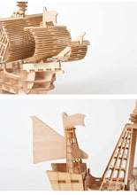 Load image into Gallery viewer, Laser Cutting DIY  Sailing Ship Toys 3D Wooden Puzzle Toy Assembly Model Wood Craft Kits Desk Decoration for Children Kids