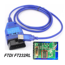 Load image into Gallery viewer, FTDI FT232RL FT232RQ Chip Auto Car Obd2 Diagnostic Cable for VAG USB for Fiat VAG USB Interface Car Ecu Scan Tool 4 Way Switch