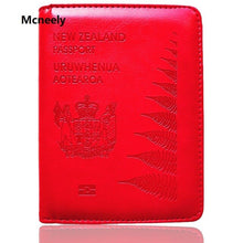 Load image into Gallery viewer, High Quality New Zealand Travel Passport Cover Leather Protector Passport Holder Case for Business Credit Card Holder Case