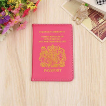 Load image into Gallery viewer, United Kingdom Travel Passport Cover Protector Case Business Protective Passport Holder Wallet Document Orgainzer Case