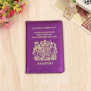 United Kingdom Travel Passport Cover Protector Case Business Protective Passport Holder Wallet Document Orgainzer Case