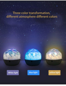 Starry Sky Night Light Planet Magic Projector Earth Universe LED Lamp Colorful Rotate Flashing Star Toy Kids Baby Christmas Gift