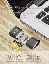 Load image into Gallery viewer, DM CR015 Micro SD Card Reader with innovative TF card slot change the card reader into a usb flash drive for computer or for car