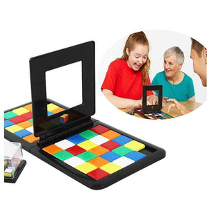 Puzzle Cube 3D Puzzle Race Cube Board Game Kids Adults Education Toy Parent-Child Double Speed Game Magic Cubes