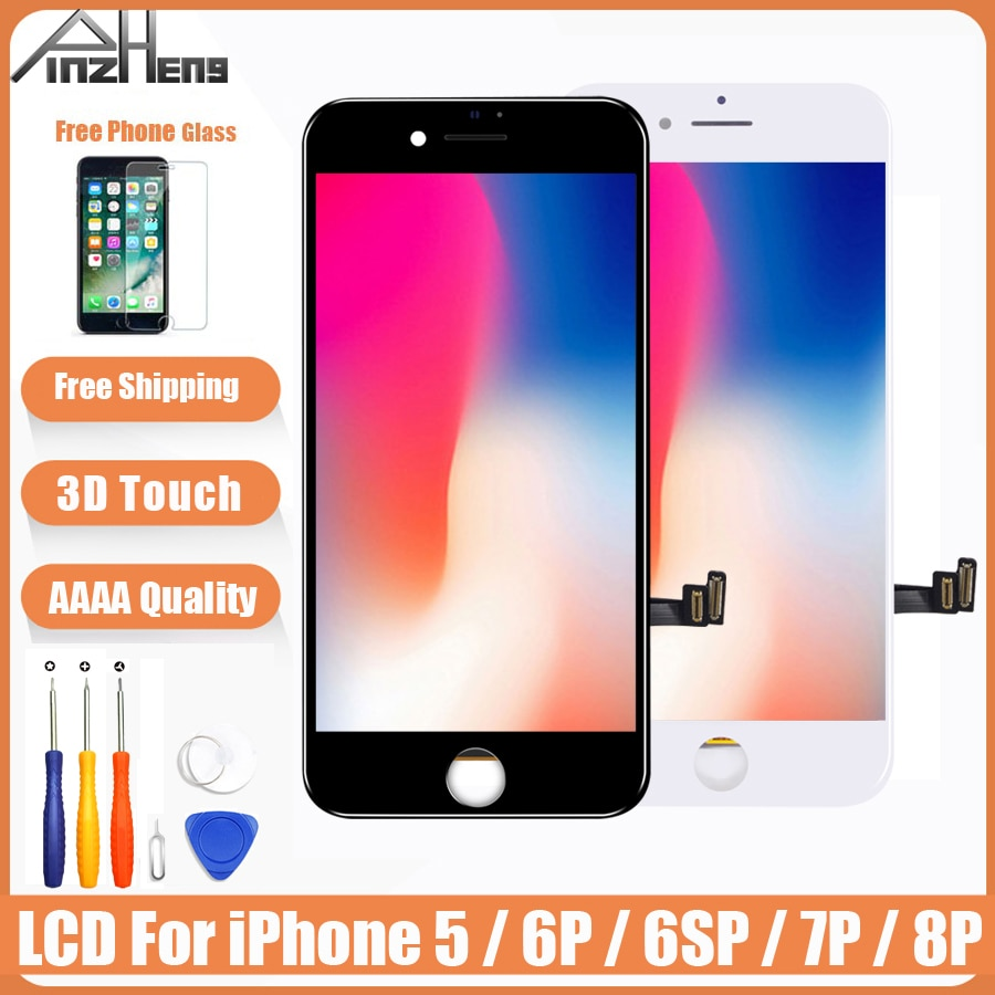 AAAA Original Screen LCD For iPhone 5 6 6s 7 8 Plus LCD Display Assembly Digitizer No Dead Pixel With 3D Touch Replacement LCD