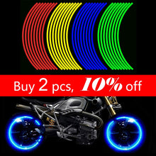 Load image into Gallery viewer, 16 Pieces Universal Waterproof Motorcycle Wheel Rim Reflective Stickers Moto Bicycle Decal 17'/18' for Honda YAMAHA SUZUKI