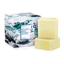 Load image into Gallery viewer, 100g Sea Salt Handmade Soap Face Body Cleaner Removal Pimple Acne Treatment Skin Care Whitening Soap blanqueador piel jabones
