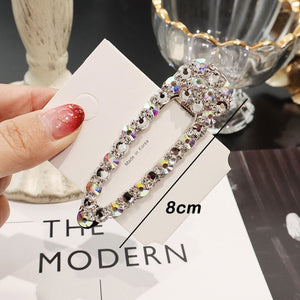 Rhinestone Hair Clip Girls Snap Hair Barrette Stick Hairpin Hair Styling Accessories For Women Girls 2019 New Fashion Women