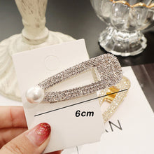 Load image into Gallery viewer, Rhinestone Hair Clip Girls Snap Hair Barrette Stick Hairpin Hair Styling Accessories For Women Girls 2019 New Fashion Women
