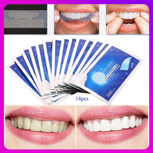 Load image into Gallery viewer, 7/14Pairs Teeth Whitening Strips Stain Removal White Gel Tooth Dental kit Oral Hygiene Care Clean Strip Dental Bleaching Tools
